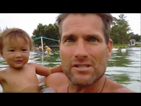 Swimming with Baby @ Warm Mineral Springs, Florida, The Fountain Of Youth. CHN #4