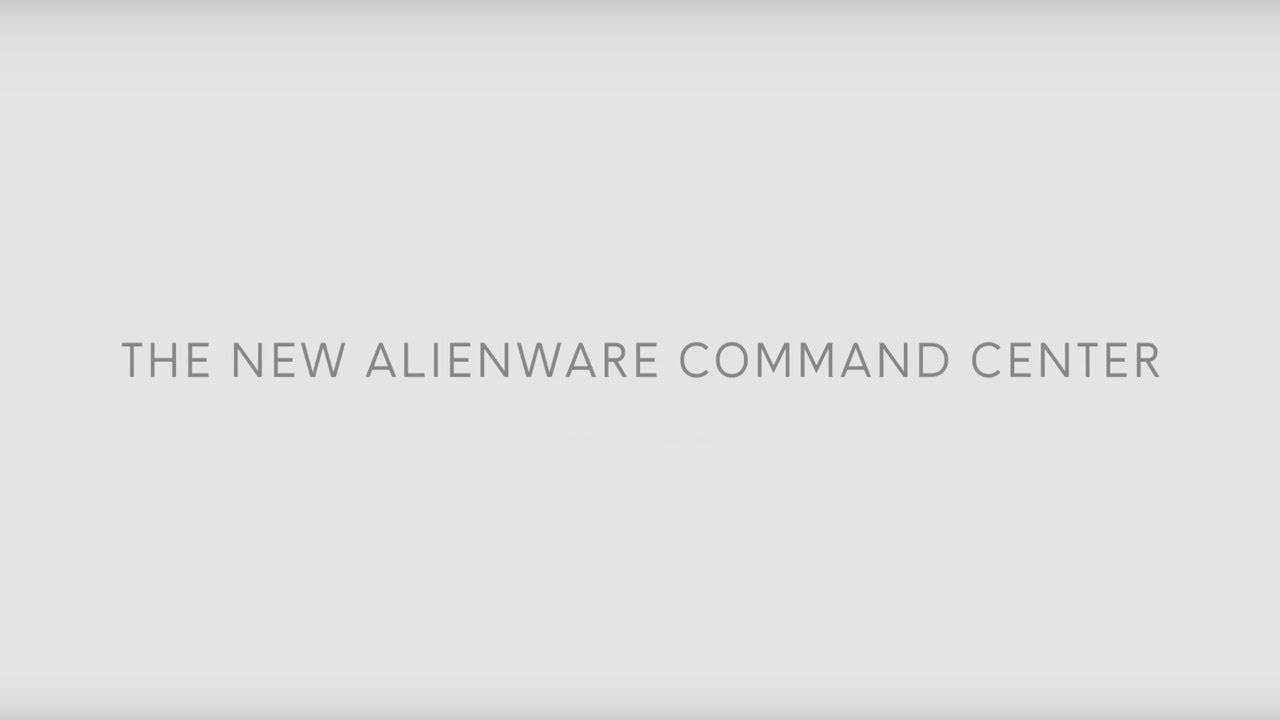 Alienware's new Command Center application will finally not suck