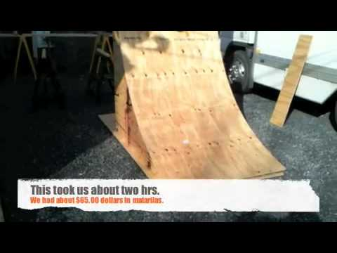 how to make a spine ramp