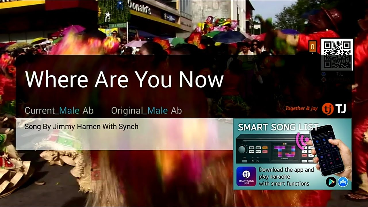 Where Are You Now Jimmy Harnen With Synch Karaoke Hd Youtube