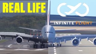 Infinite Flight landings VS Real life landings (Part 1)