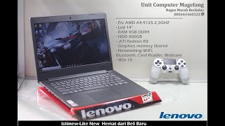 New Lenovo IP130 AMD a4 9125 Buat Ngegame Ngelag endak ya?