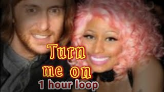 David guetta-Turn me on- ft. Nicki Minaj 1 hour version