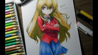 Speed Drawing - Aisaika Taiga from Toradora! / とらドラ!