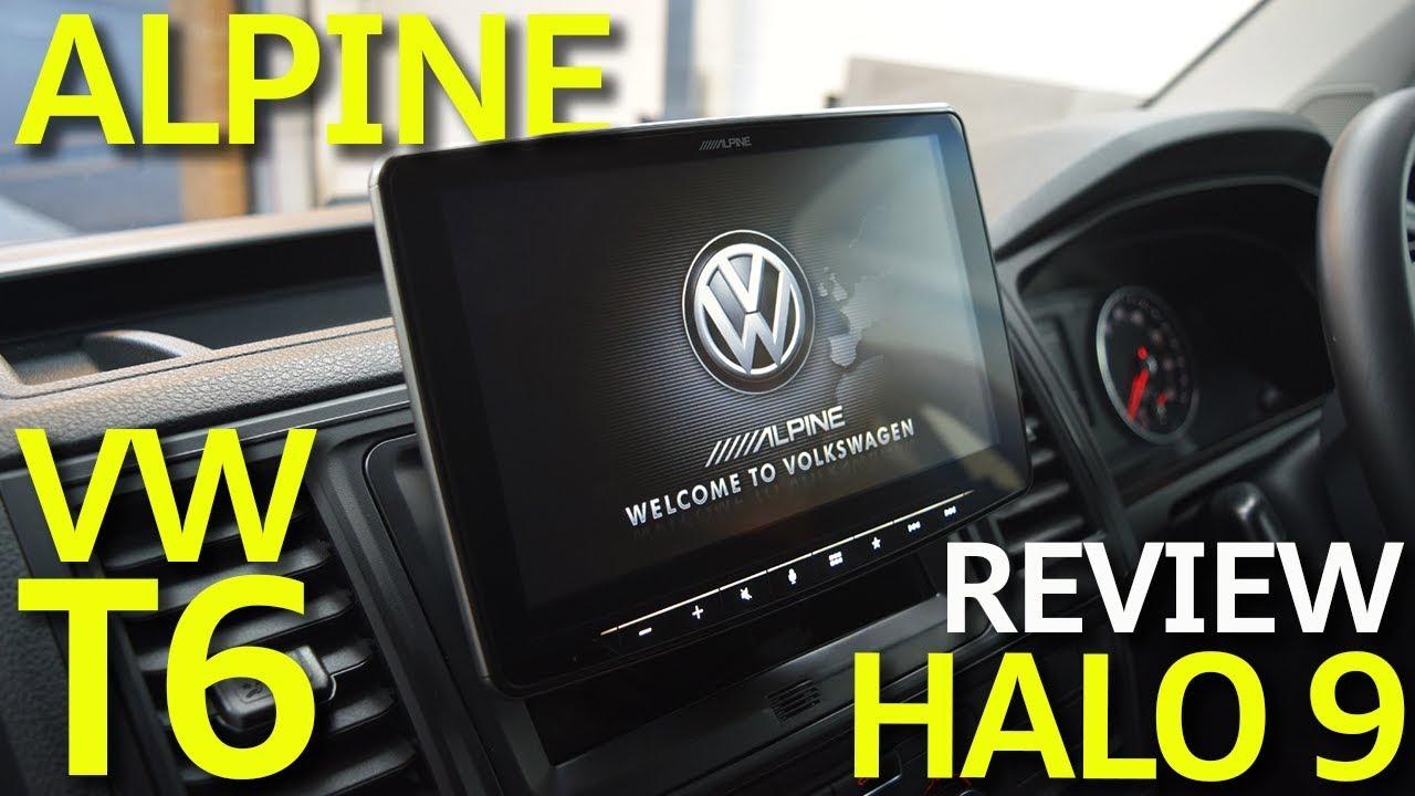 alpine ilx f903d halo 9 review volkswagen transporter t6 youtube. Black Bedroom Furniture Sets. Home Design Ideas
