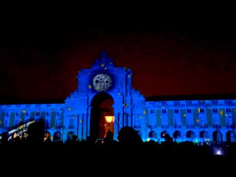 """The Fabulous Christmas Wish"" - Video Mapping Light Show in Lisbon, Portugal. December 2014"