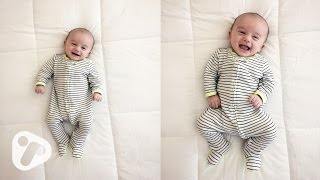 7 Week Old Baby Smiling Cooing and Happy Sounds