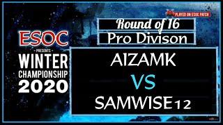 [AoE3] Aizamk vs Samwise12 (Bo7) — Pro Division Round of 16 — ESOC Winter Championship 2020