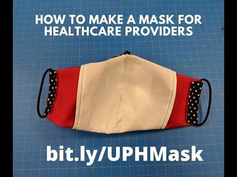 Vidéo d'instructions pour la couture du masque Olson (COVID-19)