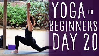 25 Minute Yoga For Beginners 30 Day Challenge Day 20 with Fightmaster Yoga