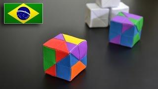 Origami: Cubo Modular - Instruções em Português BR