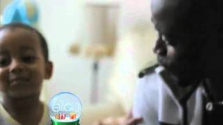 Amazing Rapping Baby on Ellen show - khaliyl iloyi rapping at 2 years old with Alim Kamara