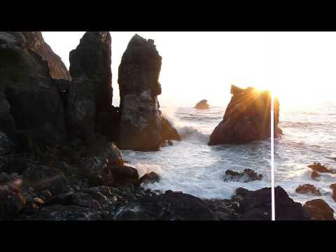 Pacific Ocean California Coastline Sunset
