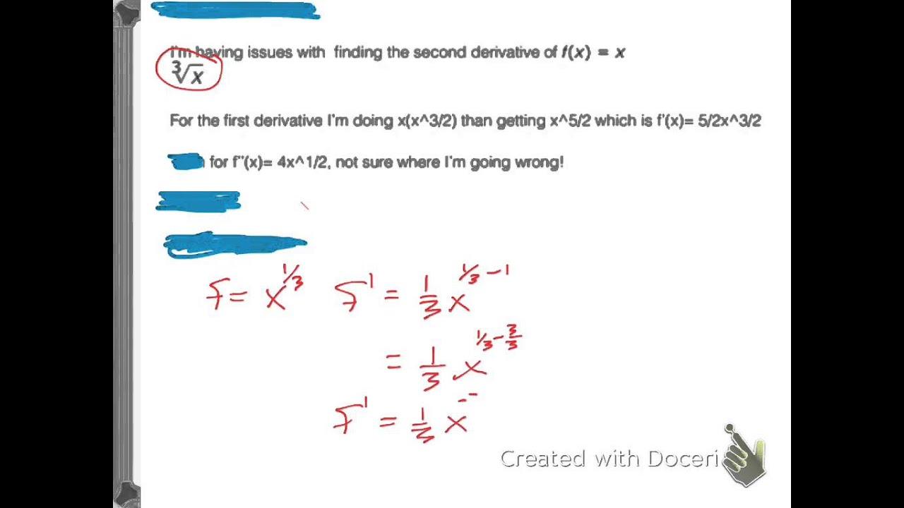 Fraction Exponent Derivative
