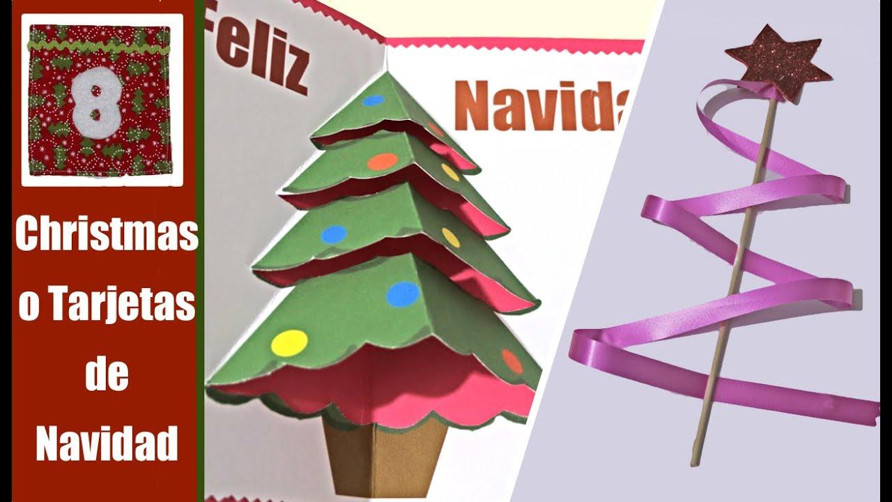 Tarjetas de navidad o christmas cards youtube - Tarjetas de navidad faciles ...