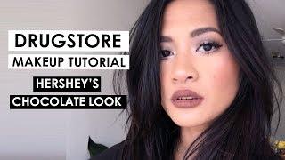 DRUGSTORE MAKEUP LOOK | Hershey Kisses Chocolate Makeup Look