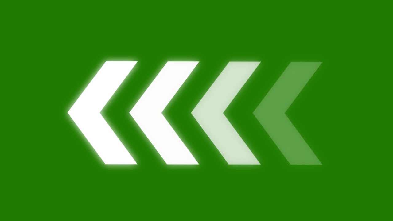 animated arrows - green screen effect