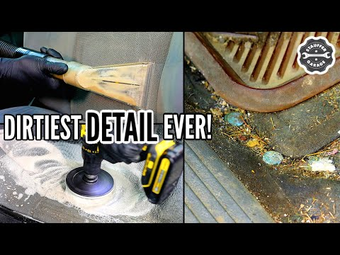 DEEP CLEANING A Disgusting Dodge Durango! Complete Disaster Car Detailing Transformation!