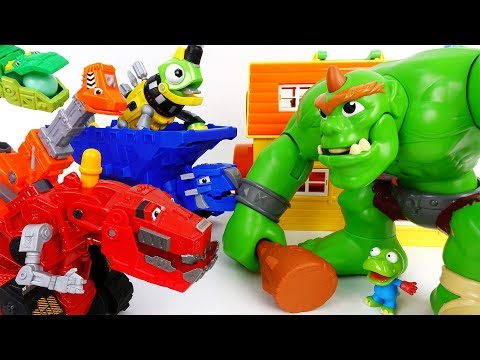 Thumbnail: Let's Trux It Up~! Go Go Dinotrux Stop The Hungry Ogre - ToyMart TV