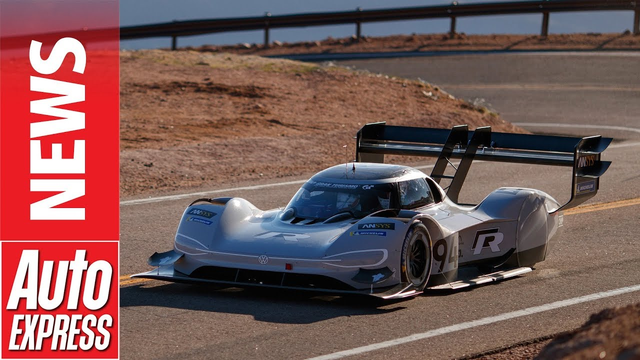 Is this the new VW and RIMAC car??? VW ID R electric race car tames Pikes Peak with new course record