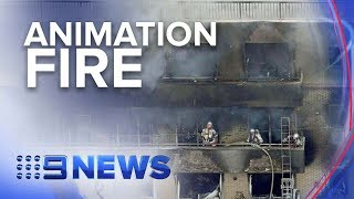 33 dead in arson attack on Kyoto animation studio | Nine News Australia