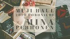 "Hobonichi × Mina Perhonen 2019 ""Piece"" unboxing + Muji Haul + Reading with me, How I annotate"