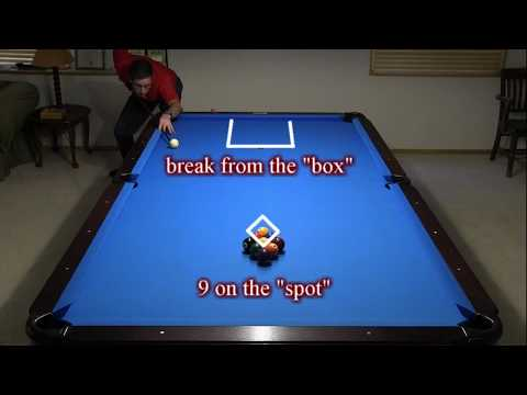 9-ball Side Soft Break, and Corey Deuel Pattern Racking, an excerpt from VENT-I