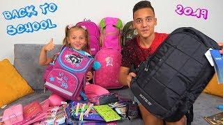 Back to School 2019 Рюкзаки и Канцелярия для Насти и Саши ПОКУПКИ к школе ПОДАРКИ для подписчиков