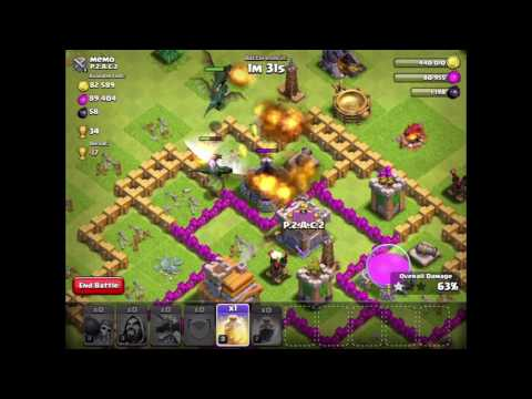 Clash Of Clans dragon and wizard attack