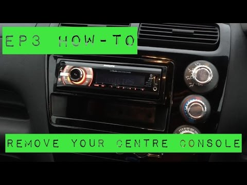 EP3 Civic Type R - HOW TO - Remove/Refit your Centre Console/Fascia - Fit a CD Player