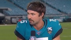 """Gardner Minshew on Mustache After Jags Win, """"Screw y'all I'm doing this myself"""" 