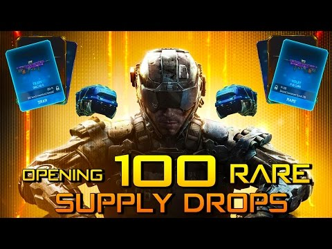 Opening 100 BLACK OPS 3 RARE SUPPLY DROP LIVE!!! - 100 RARE SUPPLY DROP!!!! (Black Ops 3)