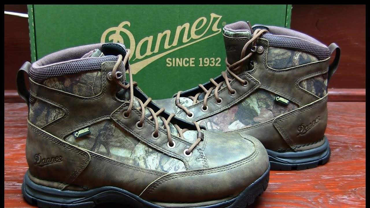 Danner Boots Hunting Hiking CamoHide leather GORE TEX - YouTube