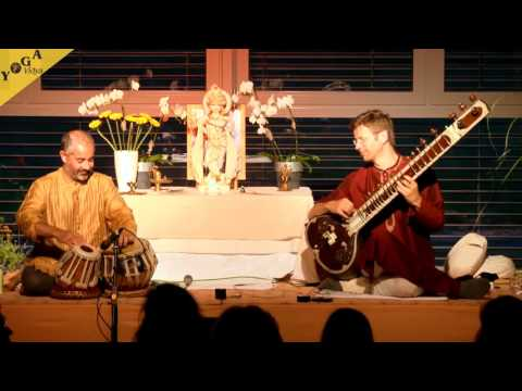 "Yogendra and Ravi playing ""magic indian ragas"" - Yoga Vidya Ayurveda Congress 2014"