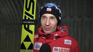 Kamil Stoch i... wielki kosmaty za plecami [15.02.2019]