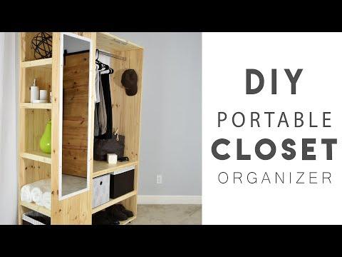 DIY PORTABLE CLOSET Organizer