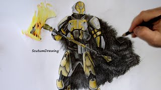 Lord Saladin - Speed Drawing - How To Draw - Destiny: Rise of Iron