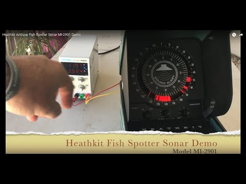 Heathkit Antique Fish Spotter Sonar MI-2901 Demo