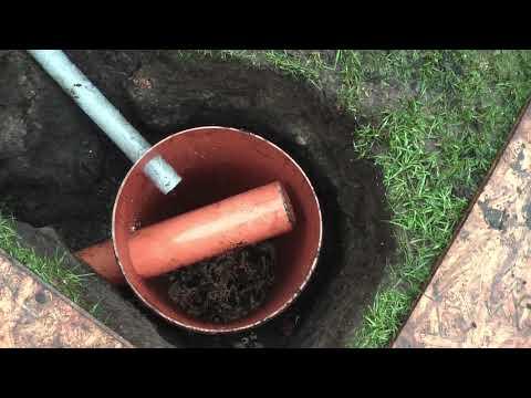 Sickerschacht DN110 Regenablauf Drainage Drainagerohr Gully Sickergrube