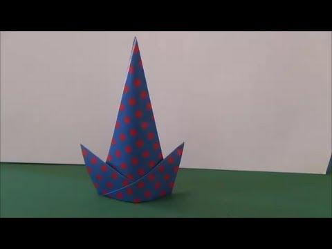 ハート 折り紙:魔女の帽子 折り紙-japan-year.info