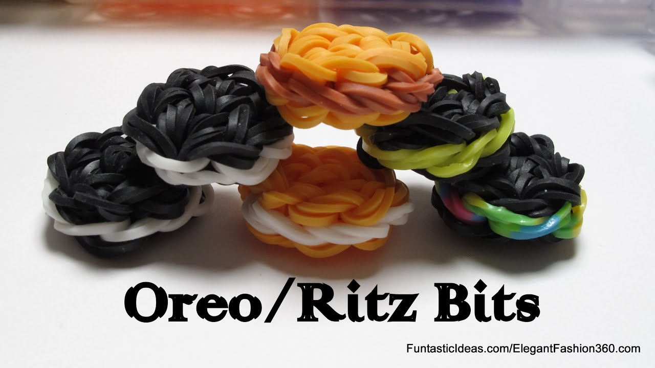 Rainbow Loom Oreo Ritz Bits Cookies Charms Youtube
