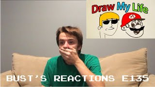 Bust's Reactions E135: Draw My Life - SuperMarioLogan
