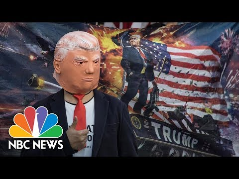 Hong Kong Protesters Sport Pro-Trump Attire, Thank U.S. For Support | NBC News