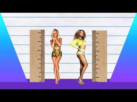 How Much Taller? - Rihanna vs Beyonce!