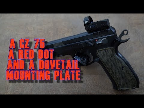 A CZ 75 SP-01, a Vortex Venom and a Dovetail Mounting Plate