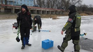Соревнования по зимней рыбалке. Ловля рыбы со льда на мормышку