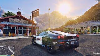Police Ferrari F430 cruising ☢ Extreme Graphics !!!
