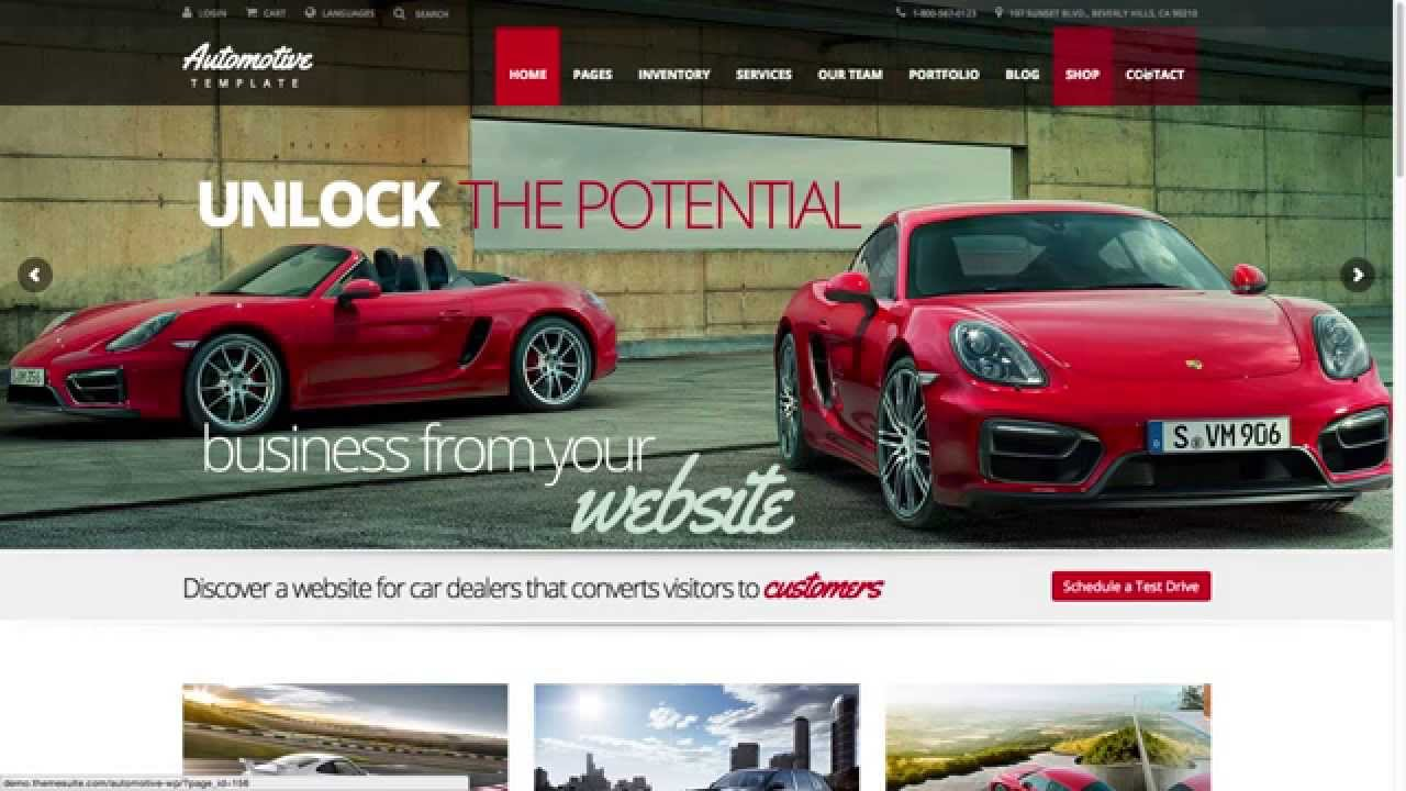 Download The Automotive Car Dealership Business Wordpress Theme