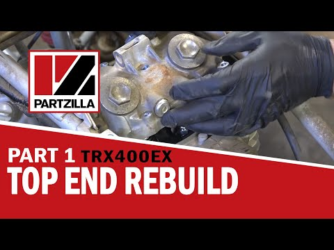 honda 400ex top end rebuild part 1: disassemble | partzilla com