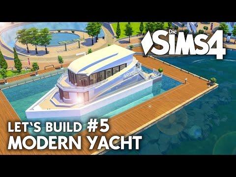 Yacht bauen in Die Sims 4 | Let's Build #5 Hafen Grundstück mit modernem Boot